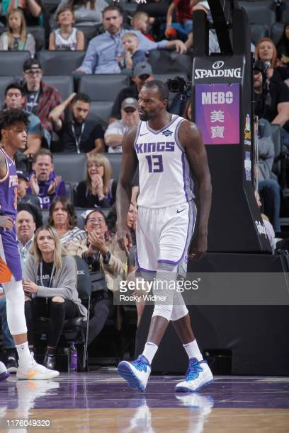 Dewayne Dedmon of the Sacramento Kings reacts during the game against the Phoenix Suns on October 10 2019 at Golden 1 Center in Sacramento California...