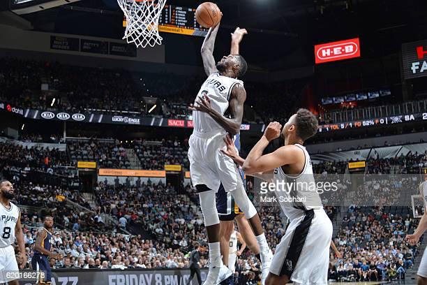 Dewayne Dedmon of the San Antonio Spurs shoots the ball against the Utah Jazz on November 1 2016 at the ATT Center in San Antonio Texas NOTE TO USER...