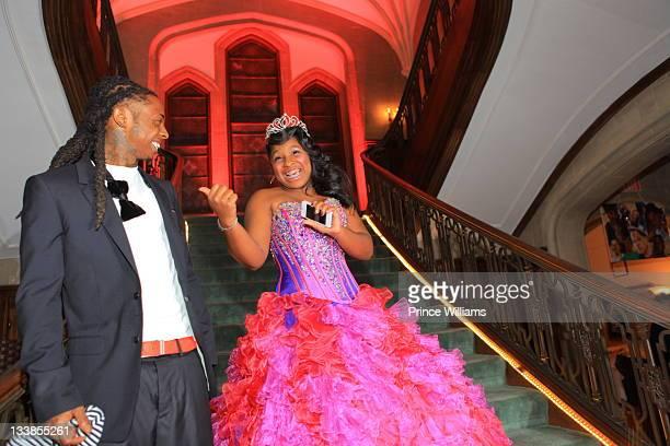Dewayne Lil Wayne Carter and Reginae Carter attend Reginae Carter's 13th Birthday party at The Callanwolde Mansion on November 19 2011 in Atlanta...