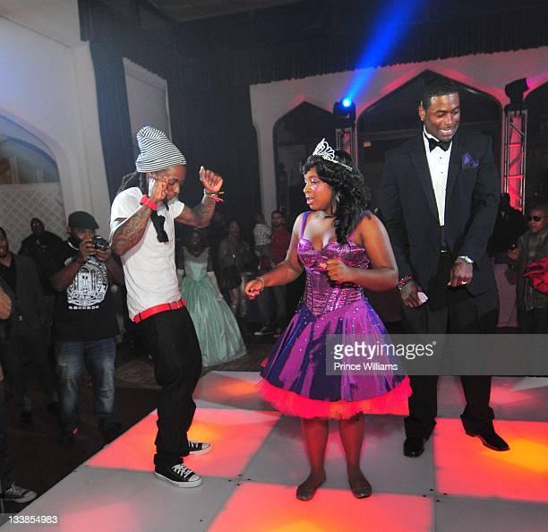 Dewayne Lil Wayne Carter Reginae Carter and Memphitz Wright attend Reginae Carter's 13th Birthday party at The Callanwolde Mansion on November 19...