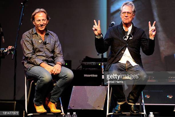 Dewey Bunnell and Gerry Beckley at an evening with America at the Sherwood Auditorium on November 4 2011 in La Jolla California