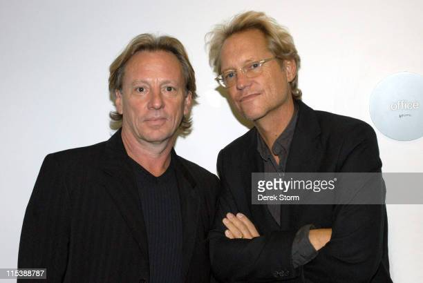 Dewey Bunnell Gerry Beckley of America during Henry Diltz Shows Photographs with Jesse Harris and Dewey Bunnell and Gerry Beckley of America...