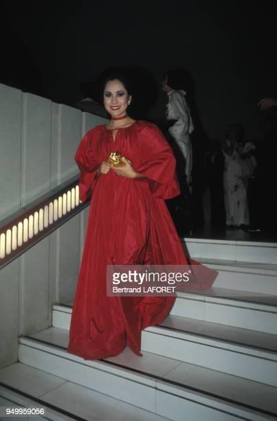 Dewi Sukarno, femme d'affaire japonaise, Paris, novembre 1975, France.