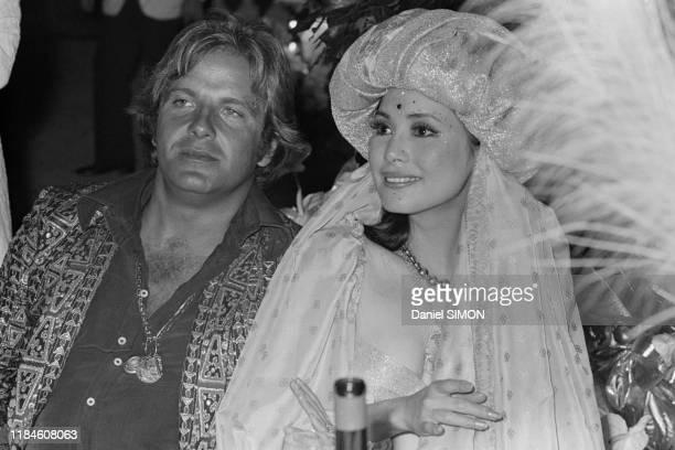 Dewi Sukarno lors du bal de la Golden Ball à MonteCarlo le 7 aout 1973 Monaco