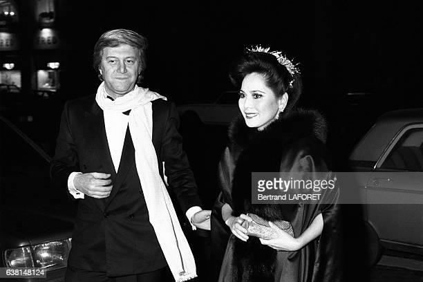 Dewi Sukarno lors d'une soirée en l'honneur de Michèle Morgan à Paris France le 31 janvier 1982