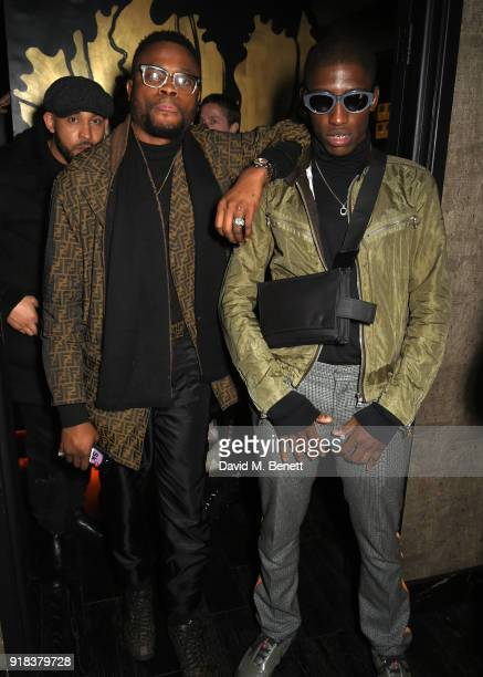 Dex and Lash of BBK attend the Copper Dog NME Awards 2018 after party at Kadie's Cocktail BarClub on February 14 2018 in London England