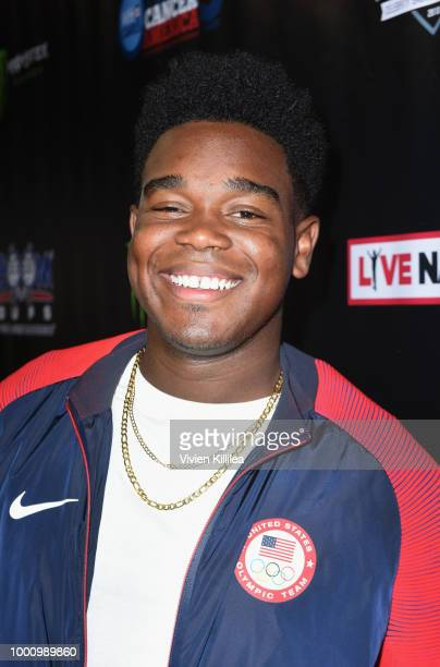 Dexter Darden attends 50K Charity Challenge Celebrity Basketball Game at UCLA's Pauley Pavilion on July 17 2018 in Westwood California