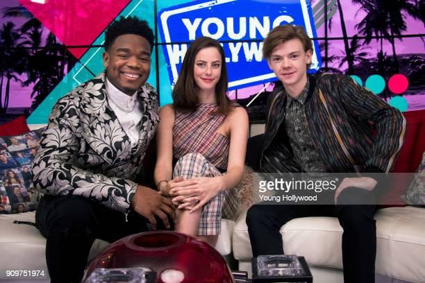 Dexter Darden Kaya Scodelario and Thomas BrodieSangster visits the Young Hollywood Studio on January 18 2017 in Los Angeles California