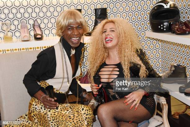 Dexter Dex Tao and Afida Turner attend the Henry Achkoyan Shop Opening on September 29, 2017 in Paris, France.