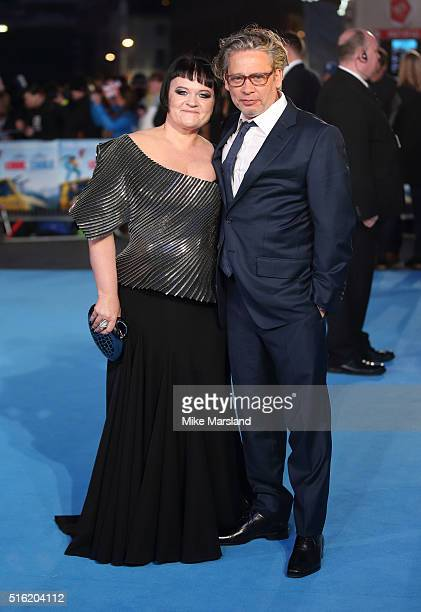 Dexter Fletcher and Dalia Ibelhauptaite arrive for the European premiere of 'Eddie The Eagle' at Odeon Leicester Square on March 17 2016 in London...