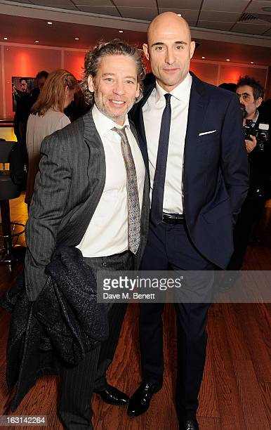 Dexter Fletcher and Mark Strong attend the UK Premiere of 'Welcome To The Punch' at the Vue West End on March 5, 2013 in London, England.