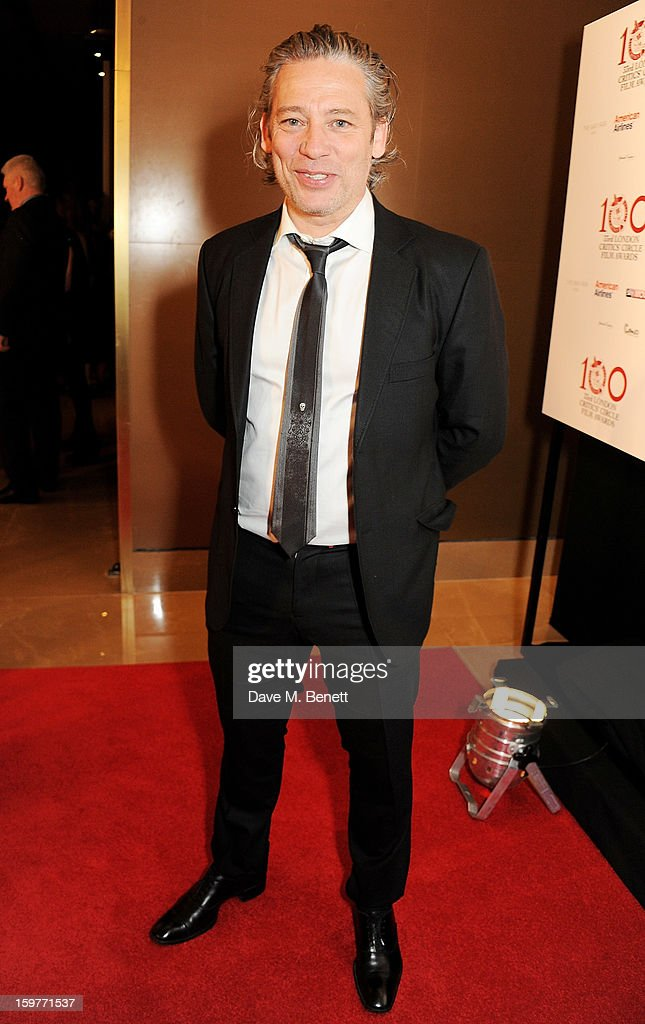 Dexter Fletcher arrives at the London Critics Circle Film Awards at the May Fair Hotel on January 20, 2013 in London, England.