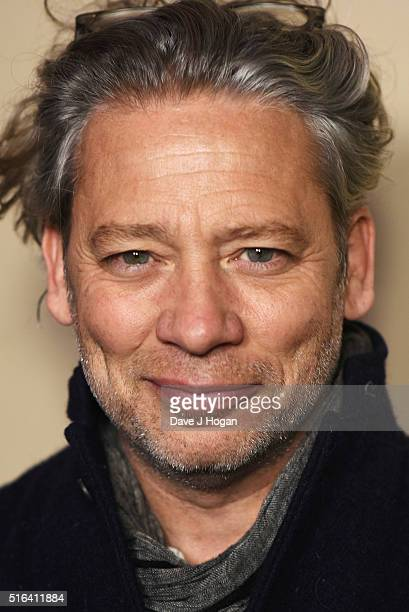 Dexter Fletcher attends Gary Barlow's live showcase of Fly an album of songs inspired by the new film Eddie the Eagle at One Mayfair on March 18 2016...