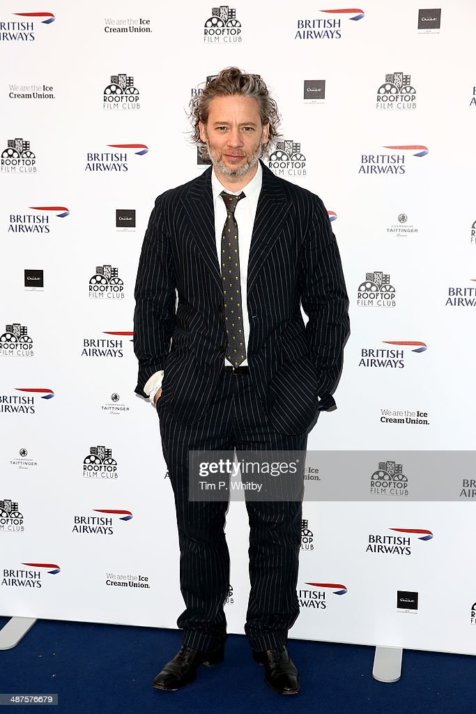 Dexter Fletcher attends the launch night of the Rooftop Film Club presented by British Airways at The Bussey Building on April 30, 2014 in London, England. The Rooftop Film Club presented by British Airways is a pop up film event where guests use headsets to watch films under the stars, running until September 30.