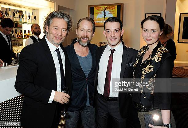 Dexter Fletcher Billy Boyd Kevin Guthrie and Alison McKinnon attend a special screening of Sunshine On Leith hosted by Jamie Oliver and Dexter...