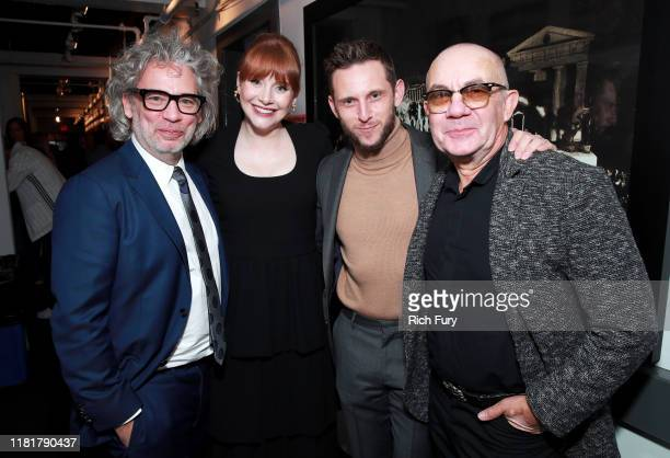 Dexter Fletcher, Bryce Dallas Howard, Jamie Bell, and Bernie Taupin attend Rocketman: Live in Concert at the Greek Theatre in Los Angeles on October...