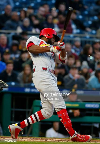Dexter Fowler of the St Louis Cardinals in action against the Pittsburgh Pirates at PNC Park on April 3 2019 in Pittsburgh Pennsylvania