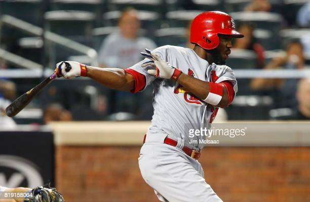 Dexter Fowler of the St Louis Cardinals in action against the New York Mets at Citi Field on July 17 2017 in the Flushing neighborhood of the Queens...