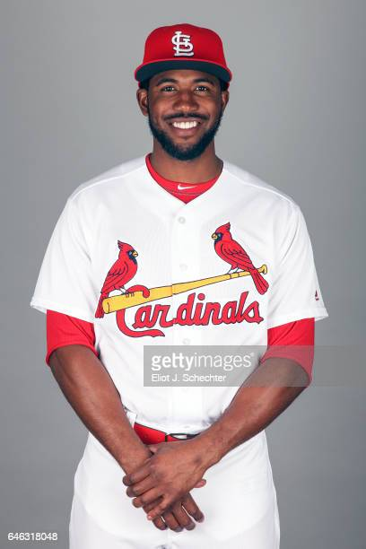Dexter Fowler of the St Louis Cardinals poses during Photo Day on Monday February 20 2017 at Roger Dean Stadium in Jupiter Florida