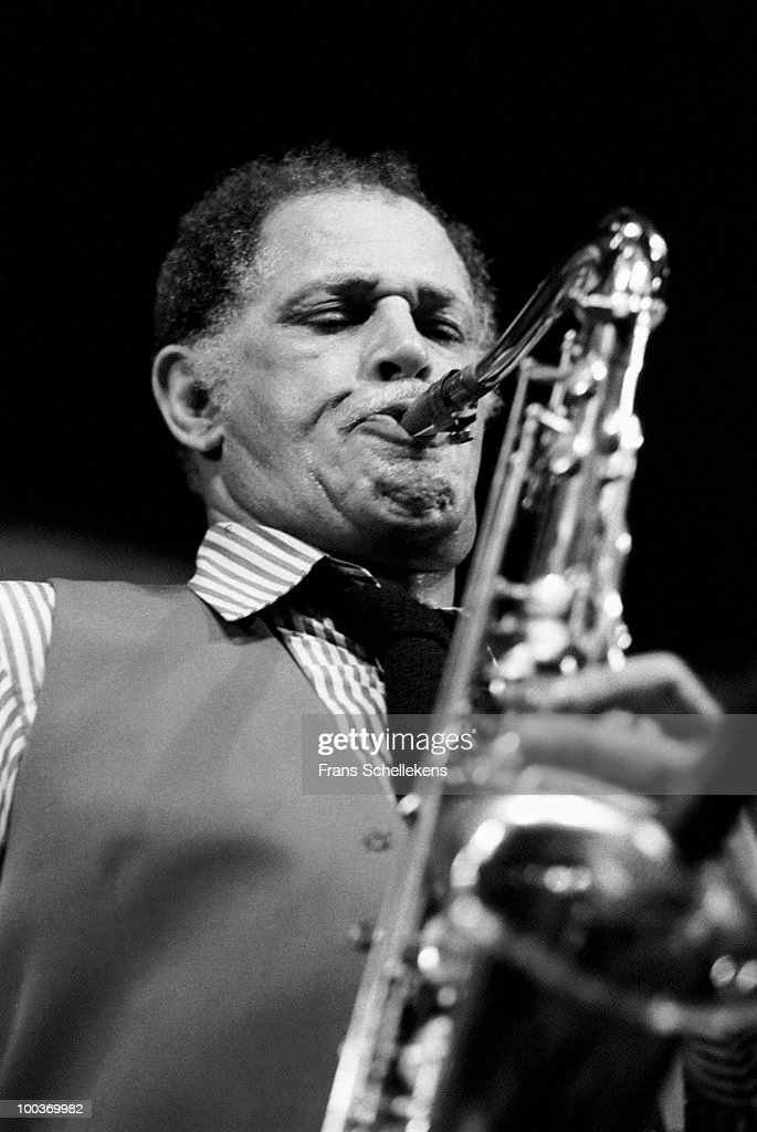 Dexter Gordon performs live on stage at Bimhuis in Amsterdam, Netherlands on February 11 1983