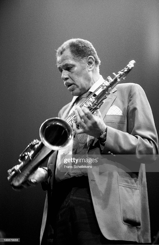 Dexter Gordon performs live on stage at Bimhuis in Amsterdam, Netherlands on January 24 1983