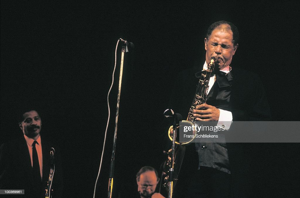 Dexter Gordon performs live on stage at the North Sea Jazz Festival in The Hague, Holland on July 14 1987