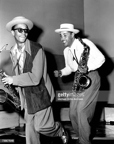 Dexter Gordon with Wardell Gray at Capitol Records on June 5 1947 in Los Angeles California