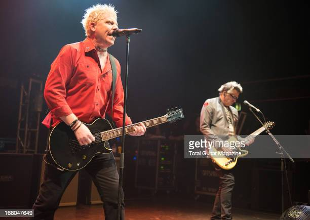 Dexter Holland and Noodles of American punk rock band The Offspring performing live onstage at the O2 Shepherd's Bush Empire June 5 2012