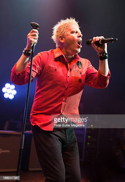 Dexter Holland of American punk rock band The Offspring performing live onstage at the O2 Shepherd's Bush Empire June 5 2012