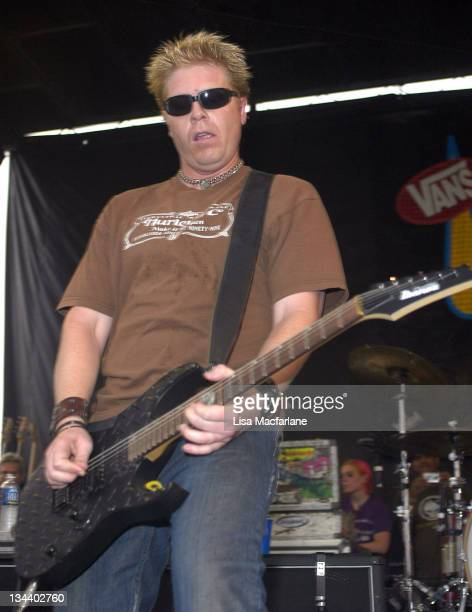 Dexter Holland of The Offspring during 2005 Vans Warped Tour Randall's Island at Randall's Island in New York City New York United States
