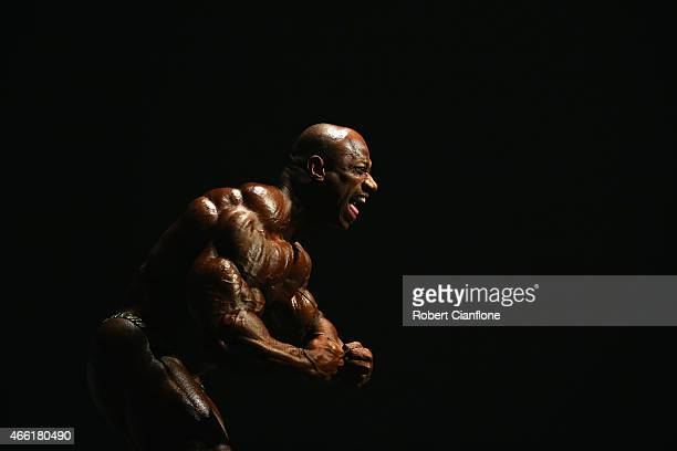 Dexter Jackson of the USA poses during the Arnold Classic Australia at The Melbourne Convention and Exhibition Centre on March 14 2015 in Melbourne...
