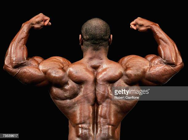 Dexter Jackson of the USA strikes a pose during the 2007 IFBB Australian Bodybuilding Grand Prix VII at Dallas Brooks Hall on March 10 2007 in...