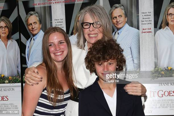 Dexter Keaton Diane Keaton and Duke Keaton attend the And So It Goes premiere at Easthampton Guild Hall on July 6 2014 in East Hampton New York