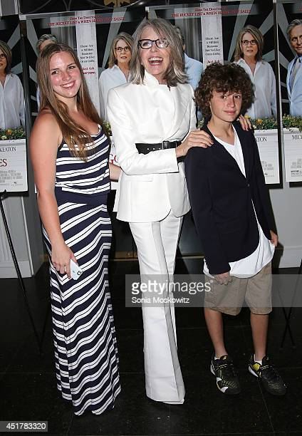 Dexter Keaton Diane Keaton and Duke Keaton attend the And So It Goes premiere at Guild Hall on July 6 2014 in East Hampton New York