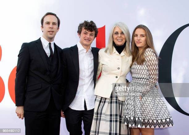 Dexter Keaton Duke Keaton Diane Keaton and guest attend the Book Club premiere on May 6 2018 in Westwood California