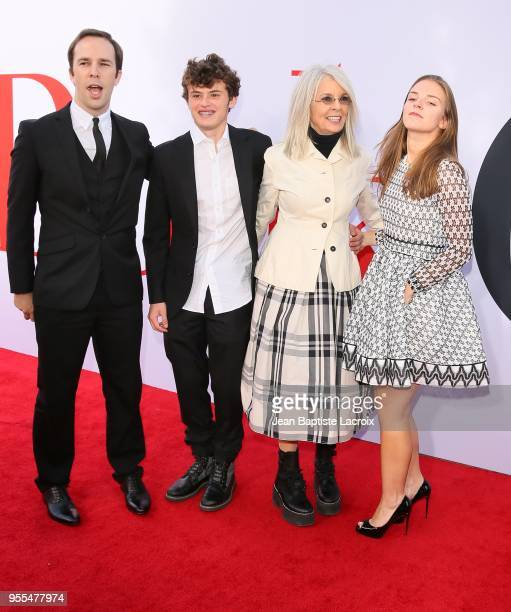 Dexter Keaton Duke Keaton Diane Keaton and guest attend the premiere of 'Book Club' on May 06 2018 in Westwood California