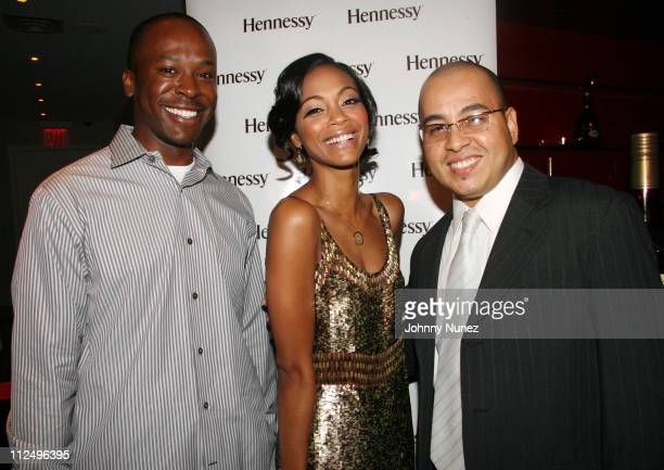 Dexter King Zoe Saldana and Israel Cancel during Hennessy Suite Spot Hosted by Zoe Saldana November 1 2006 at tbd in New York City New York United...