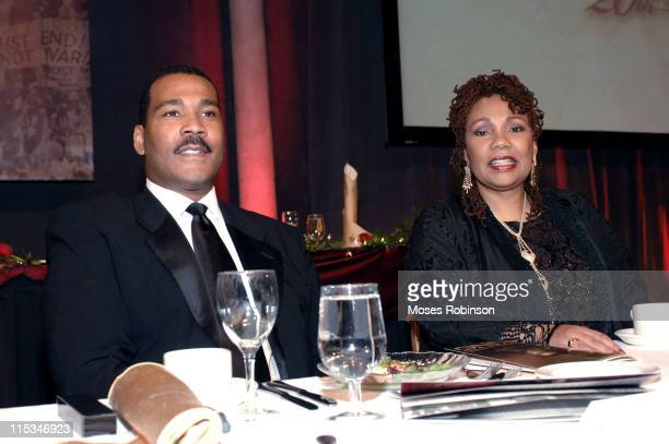 Dexter Scott King and Yolanda King during Salute to Greatness Awards Dinner 20th Anniversary Holiday Observance at King Center in Atlanta Georgia...