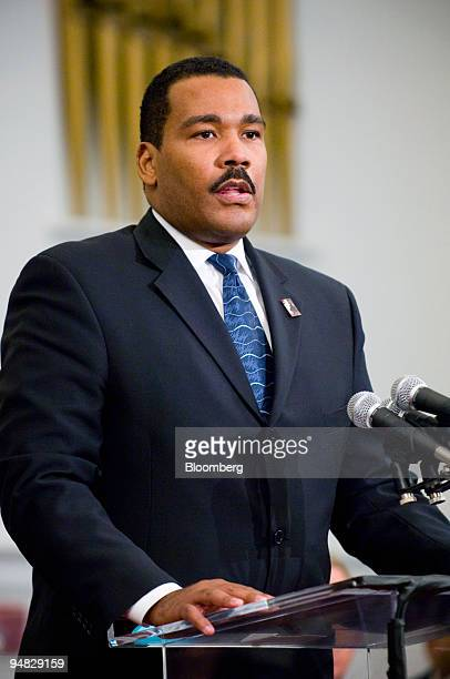 Dexter Scott King Chairman Board of Directors of the King Center in Atlanta speaks at The Martin Luther King Jr Annual Commemorative Service for Dr...