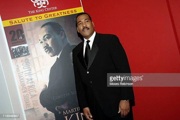 Dexter Scott King during Salute to Greatness Awards Dinner 20th Anniversary Holiday Observance at King Center in Atlanta Georgia United States