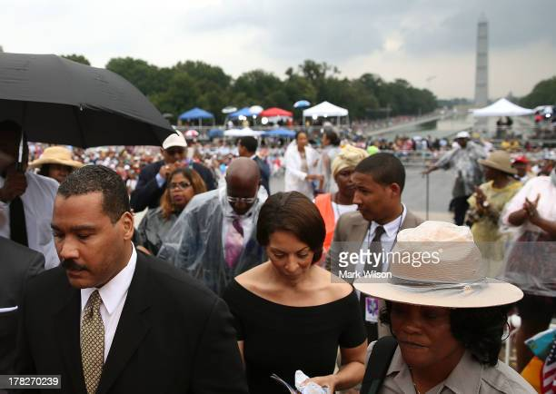 Dexter Scott King son of Martin Luther King Jr attends the ceremony to commemorate the 50th anniversary of the March on Washington for Jobs and...