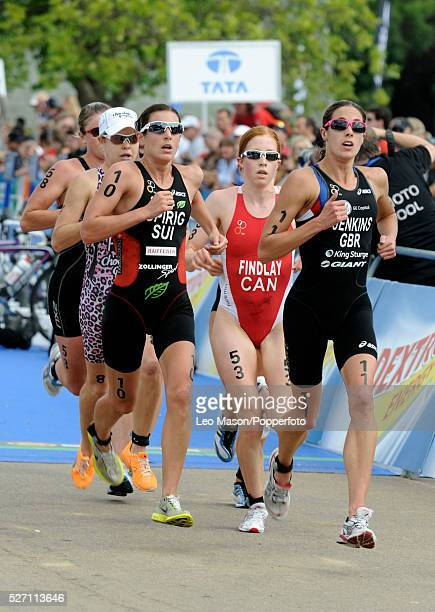 Dextro Energy/ ITU World Championship Triathlon Hyde Park London UK The event was won by Paula Findlay CAN in 015148 from Nicola Spirig SUI and Helen...