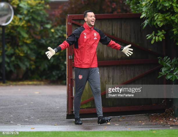Deyan Iliev of Arsenal during a training session at London Colney on November 4 2017 in St Albans England