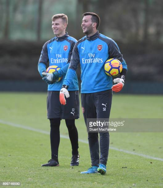 Deyan Iliev of Arsenal during a training session at London Colney on December 30 2017 in St Albans England