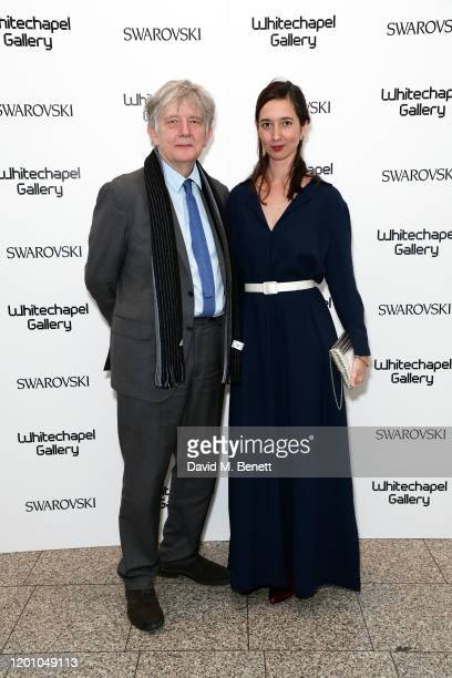 Deyan Sudjic and Marlene Taschen attend a glamorous gala dinner as Francis Alys is celebrated as Whitechapel Gallery Art Icon with Swarovski on...