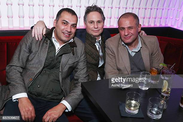 Deyem Mazen, Jason Binn and Ronn Torossian attend Jason Binn's birthday celebration at Megu at Dream Downtown on January 23, 2017 in New York City.