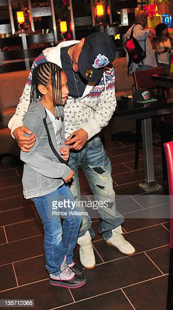 Deyjah Harris and TI attend the private viewing of TI and Tiny The Family Hustle at the Cine Bistro on December 5 2011 in Atlanta Georgia