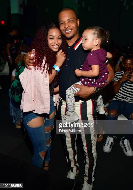 Deyjah Harris Tip 'TI' Harris and Heiress Harris attend 'The Grand Hustle' Exclusive Viewing Party at at The Gathering Spot on July 19 2018 in...