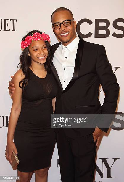 Deyjah Imani Harris and TI attend American Theatre Wing's 68th Annual Tony Awards at Radio City Music Hall on June 8 2014 in New York City