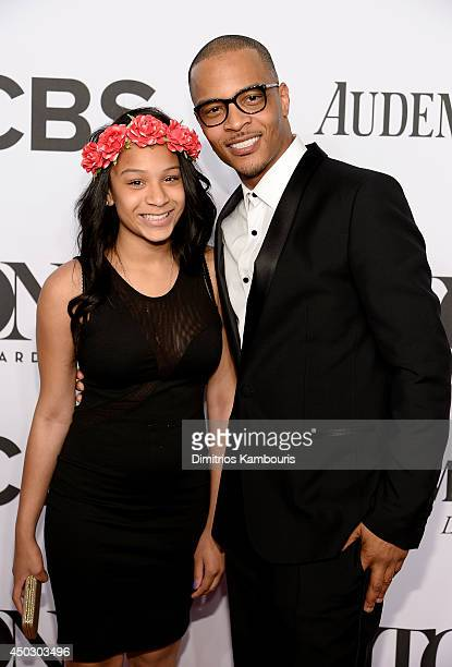 Deyjah Imani Harris and TI attend the 68th Annual Tony Awards at Radio City Music Hall on June 8 2014 in New York City